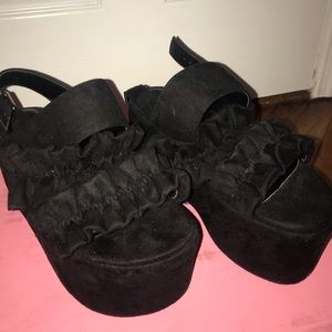 Dolls Kill Ruffle Platform Sandals